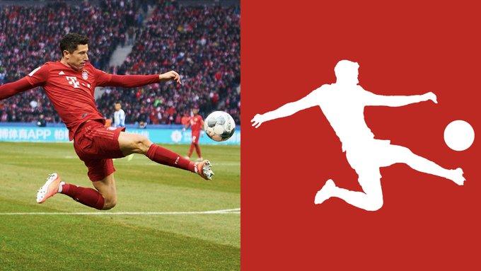 Bundesliga logo and player