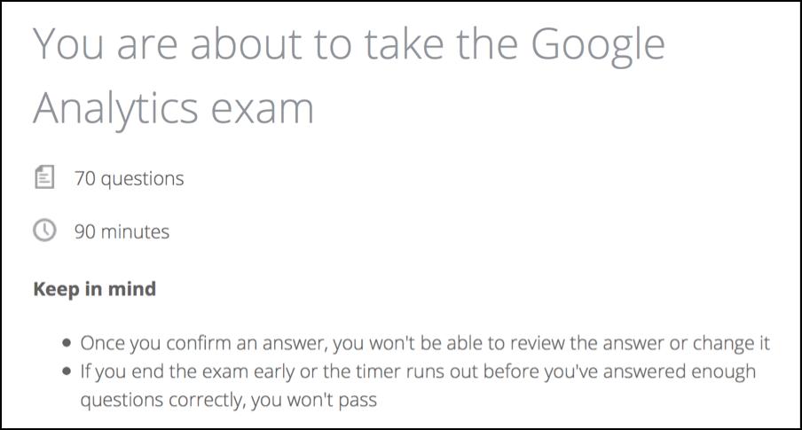 Google Analytics Quiz Analytics Course