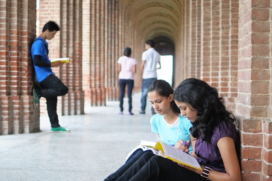 College Students Preparing For Examination.