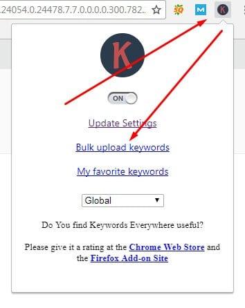 11 Keyword Everywhere - Keyword Tool Bulk Upload Keywords