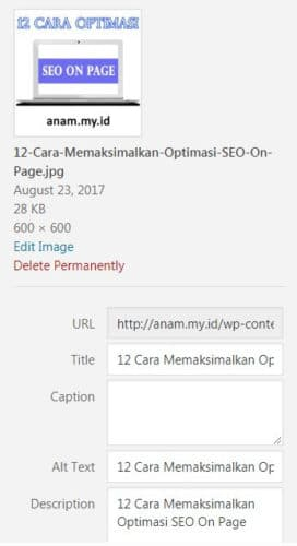 Optimasi Gambar - SEO On Page