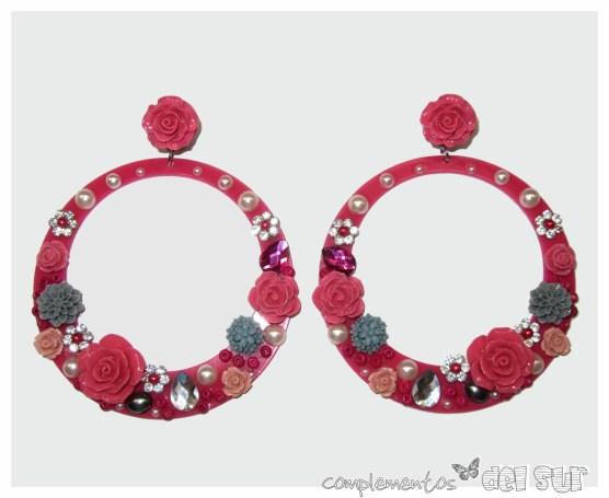 pendientes-de-flamenca-personalizados-fucsia