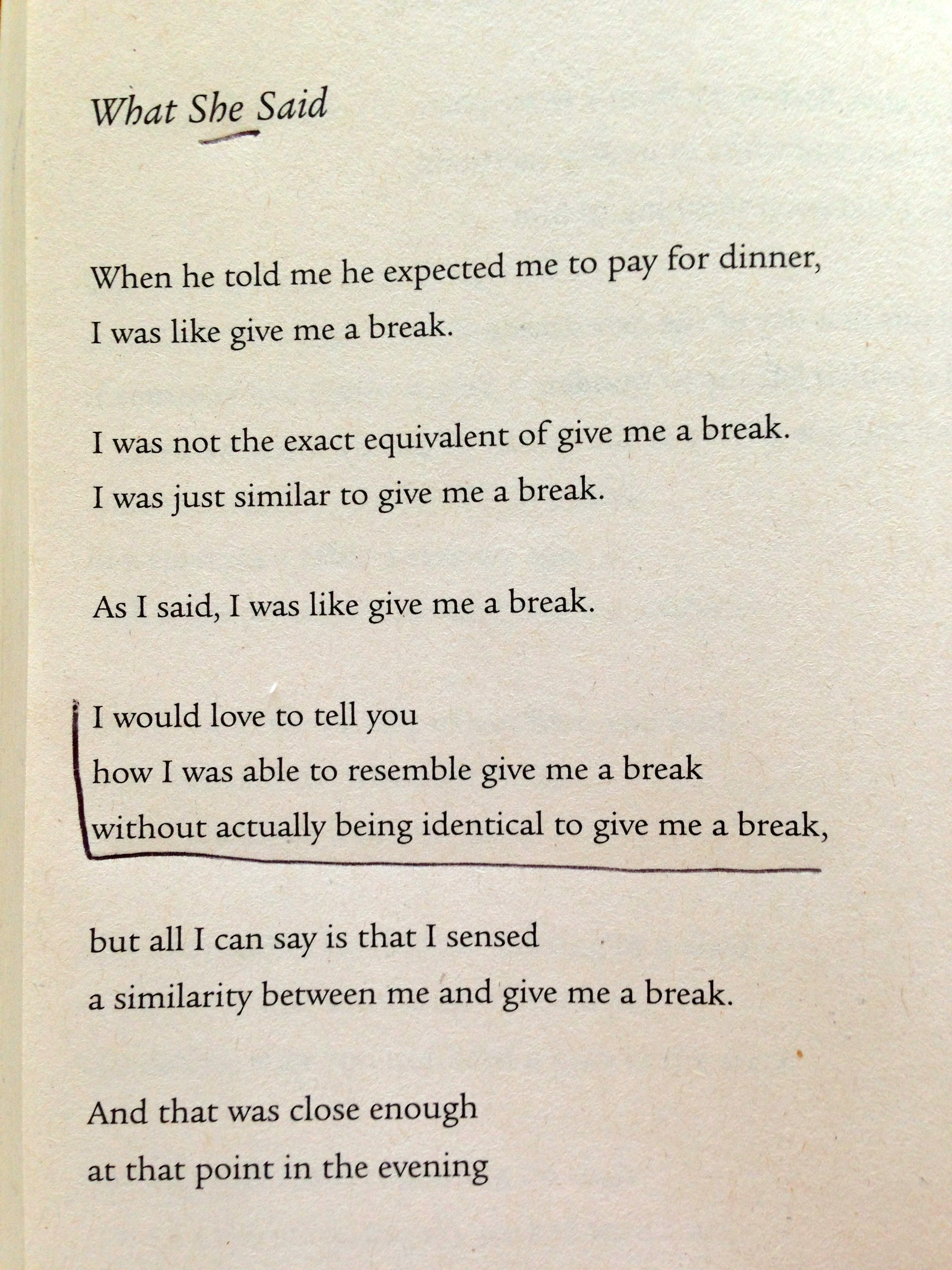 The World S Best Give Me A Break Poem The Drugstore
