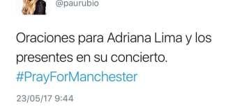 Paulina Rubio en su Tweeter