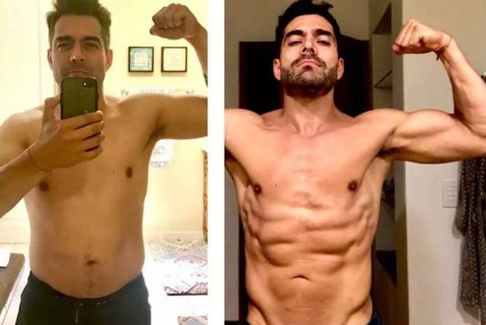 Omar cambió radicalmente su físico a base de ejercicio