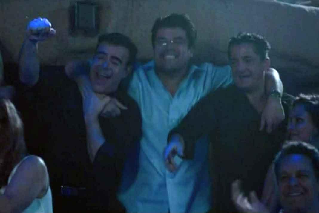 """Toño Mauri, Jorge """"El Burro"""" Van Rankin y Alejandro Basteri, hermano de Luis Miguel"""