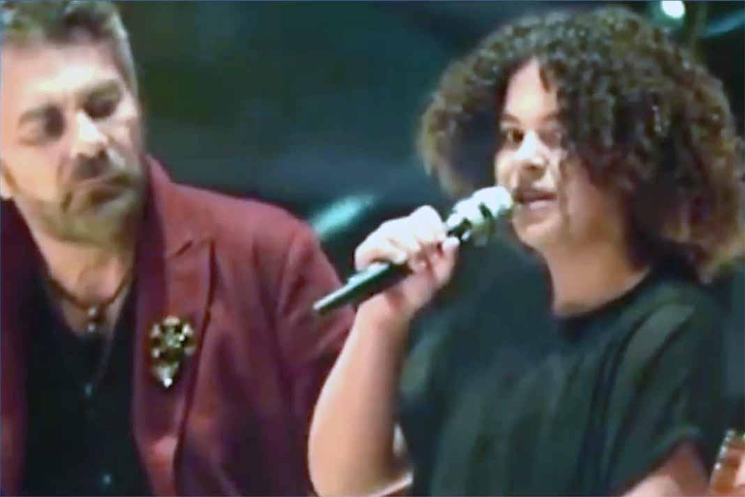 Lucerito es una niña muy musical, pero apenas tiene 13 años y no se dedicará al canto por ahora