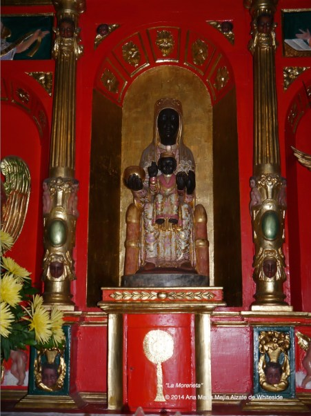 Réplica de la Virgen de Monserrat, conocida tambien como