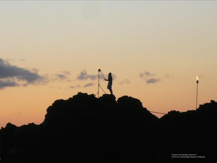 """Sunset Torch lighting Ceremony"" Maui Nui Luau"