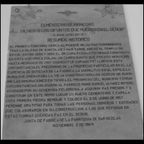 1964 Resumen Histórico-Cementerio Rionegro.