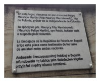 Tumba del Coronel Felipe Mauricio Martin - Filip Maurycy MarcinKowski
