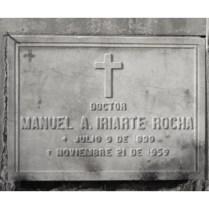 Tumba de Manuel A Iriarte Rocha