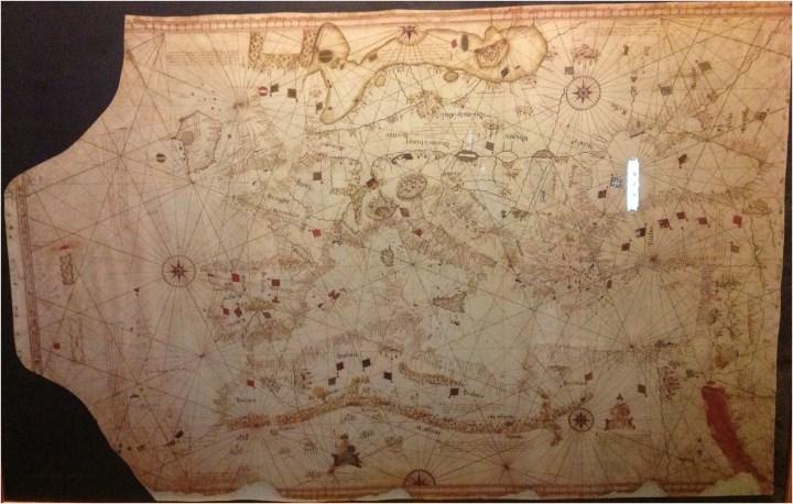 Carta Geográfica de la época.