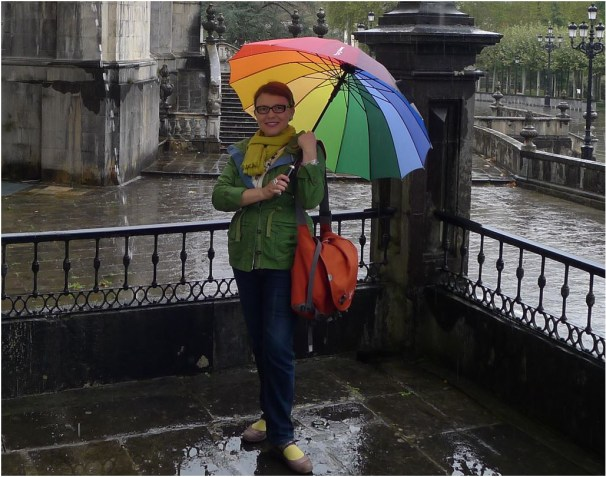 Un arco iris sobre mi cabeza para un día de lluvia.