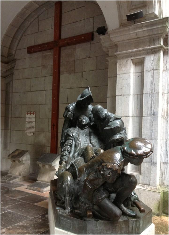 Monumento a Iñígo López de Loyola, el futuro San Ignacio de Loyola... Para Laureano.