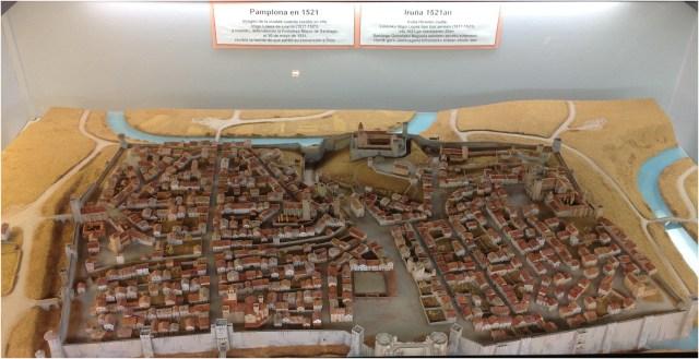 Plano de la ciudad de Pamplona. Siglo XVI
