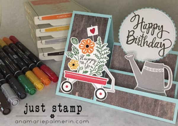 Side Step Fancy Fold Birthday Card Featuring Grown With Love