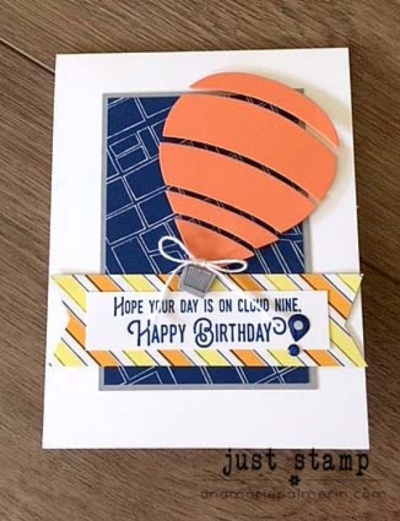 Just Stamp | Stampin' Up! | Lift Me Up Birthday