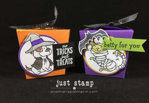 Just Stamp | Halloween Takeout Treats Boxes