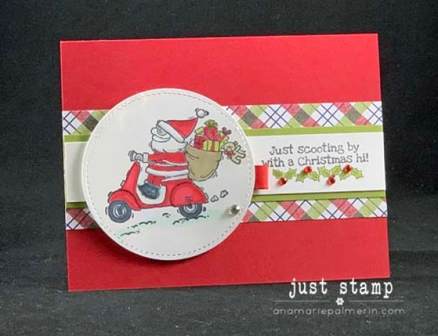 Just Stamp | So Santa on a Scooter