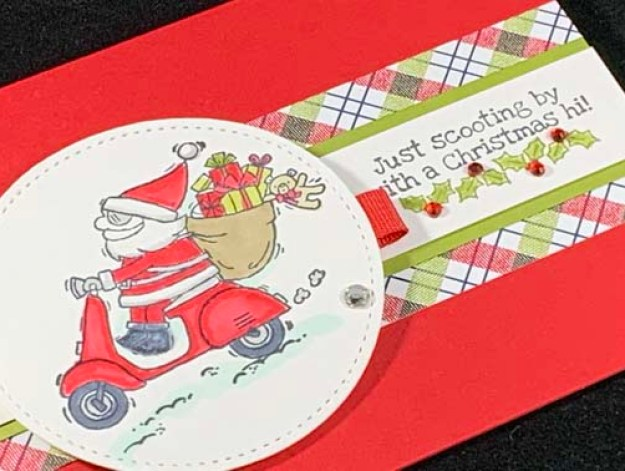 Just Stamp | So Santa Scooter Zoom