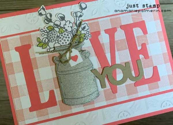 Stampin' Up! Large Letters with Country Home | Just Stamp