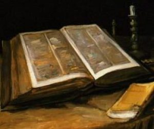 Van Gogh, Still Life with Bible, 1885.