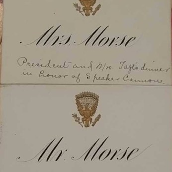 From a 1910 dinner at the Taft White House