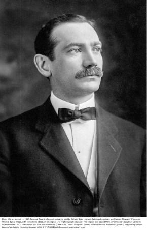 Elmer Morse, portrait, c. 1910 (P17-0054)