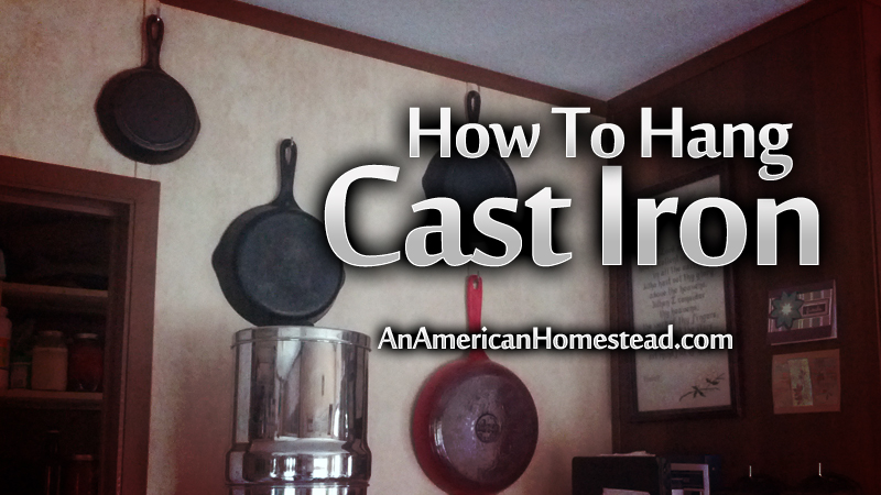 how to hang cast iron on a wall