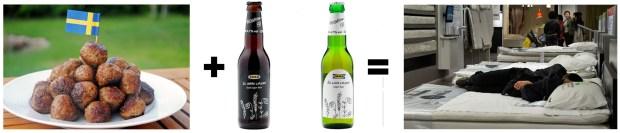 Photo Credits: http://www.stromkult.com/wp-content/uploads/2015/07/köttbullar.jpg http://static2.businessinsider.com/image/5006bdd66bb3f7e576000018/ikea-now-brews-and-sells-its-own-beer.jpg https://og86.files.wordpress.com/2010/10/dsc08093.jpg