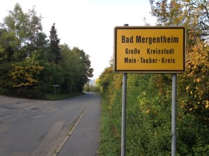 Bad Mergentheim Sign