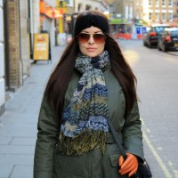 #OUTFIT - PARKA AND A TURKISH SCARF