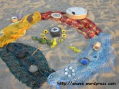 litha, solsticio de verano, altar elemental en la playa, 2013