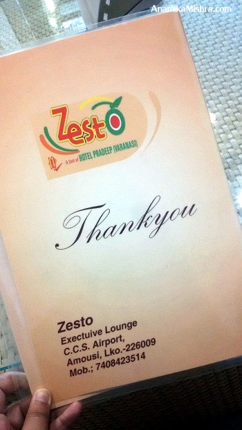 ZestO Executive lounge, Lucknow Domestic Airport – Review