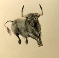 Miniature: Mini-tauro (Watercolor on paper)