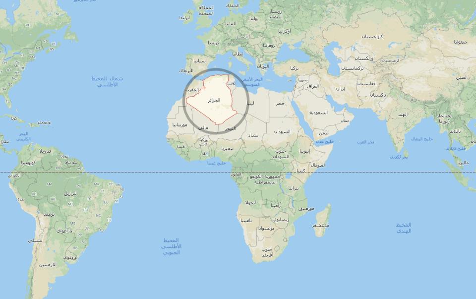 الجزائر على خريطة العالم
