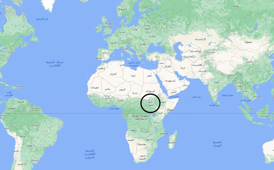 أين تقع جنوب السودان على الخريطة انا مسافر