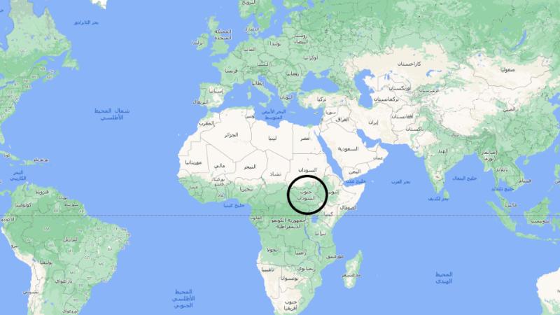 أين تقع جنوب السودان على الخريطة