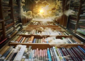 Books to the sky image