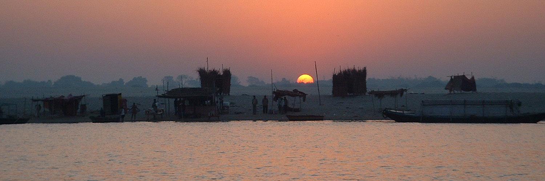 india river at sunrise
