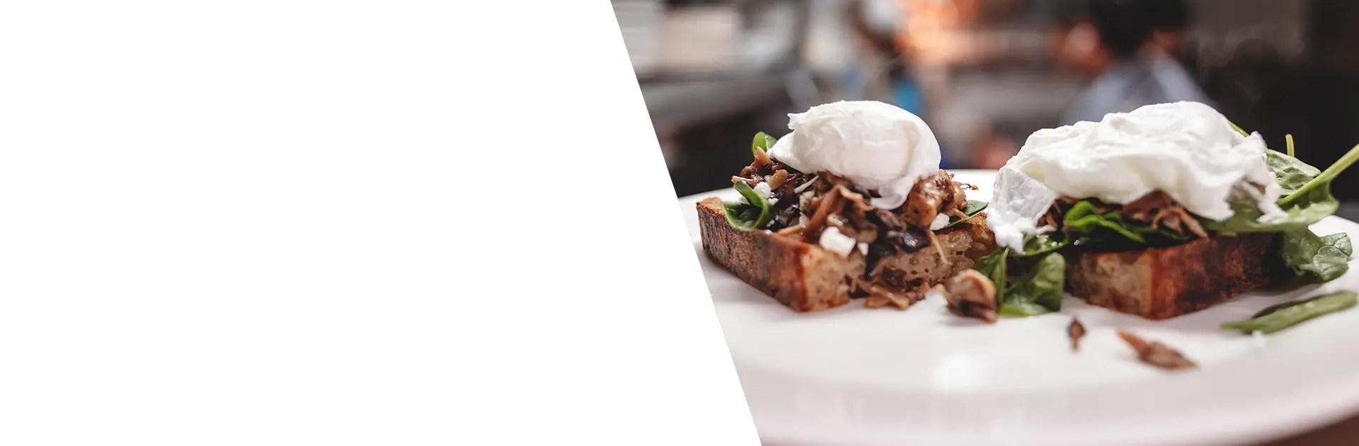Ananda Fuara Vegetarian Restaurant San Francisco Wild Mushroom Toast
