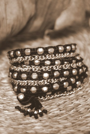Temple dawn bracelet sepia