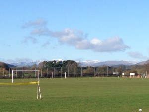 Snowcapped Lakeland Fells