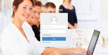 Human Resources Application - Login Page - Using Laravel 4