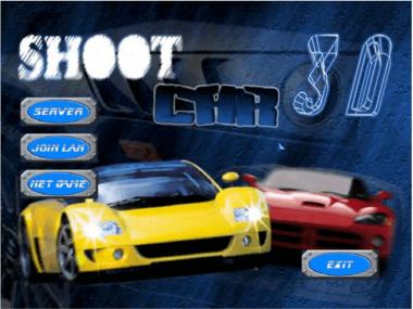 3D Shoot Car Multiplayer Games - Menu
