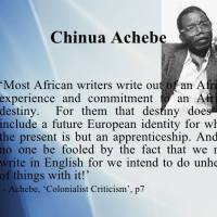 Colonialist Criticism by Chinua Achebe