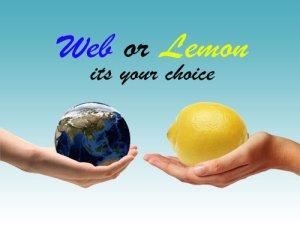 Web Hands You Lemons
