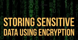 Storing Sensitive Data Using Encryption