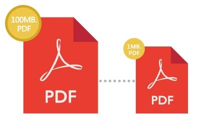 Shrink huge pdf